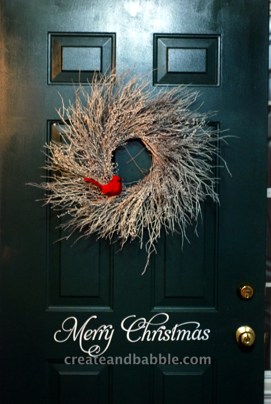 There is a wreath on my front door!