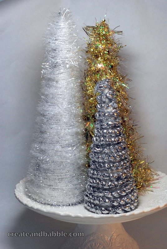 Pretty Little DIY Christmas Trees Made with Card Stock