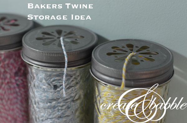 Bakers Twine Storage Idea createandbabble.com