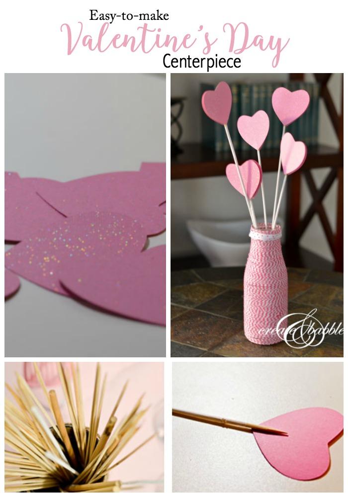 Easy to Make Valentine's Day Centerpiece