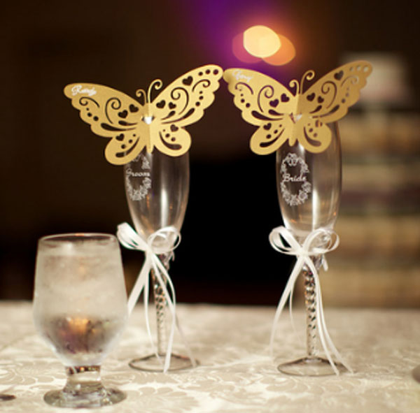 Butterfly Place Cards Made with Silhouette®