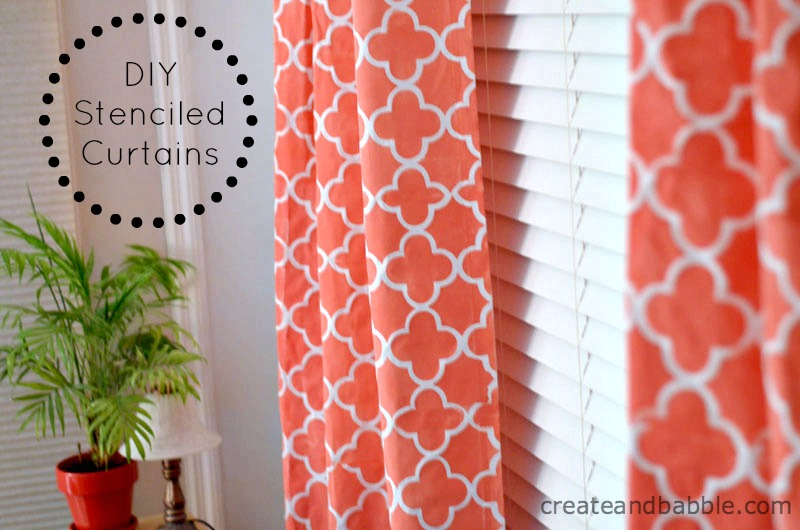 diy stenciled curtains by createandbabble.com