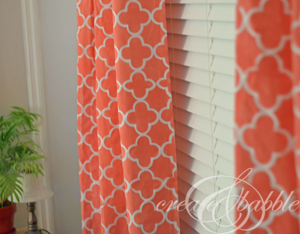 Make Your Own Stencil And Stenciled Curtains Create And Babble
