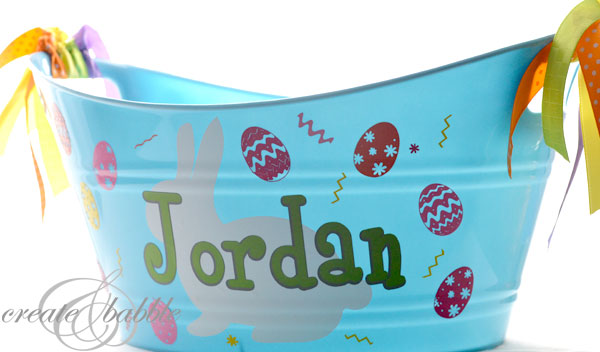 Easter Bucket Create and Babble
