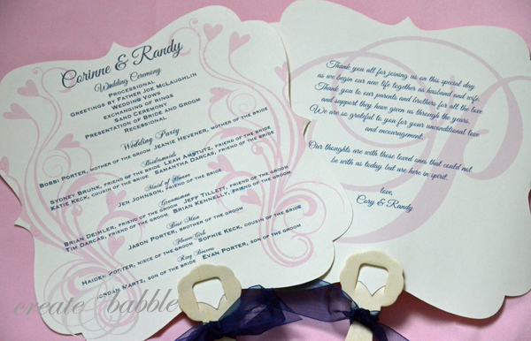 Wedding Programs 4 Createandbabble