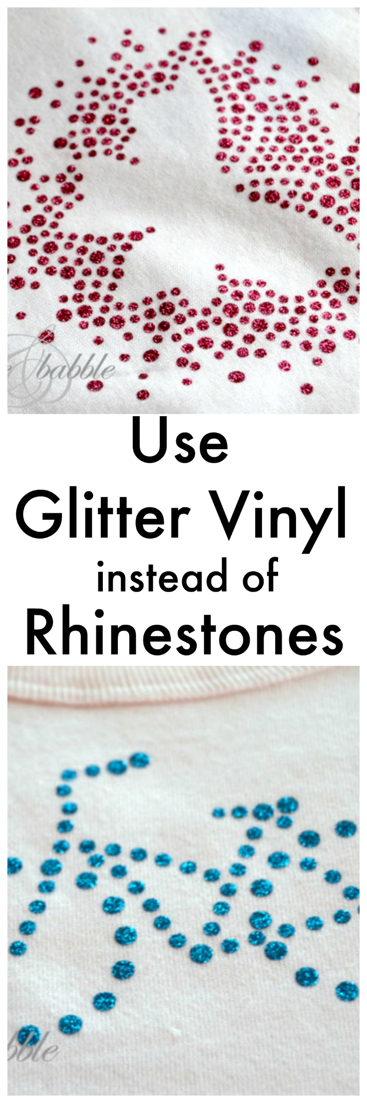 Use glitter vinyl instead of rhinestones with your Silhouette machine