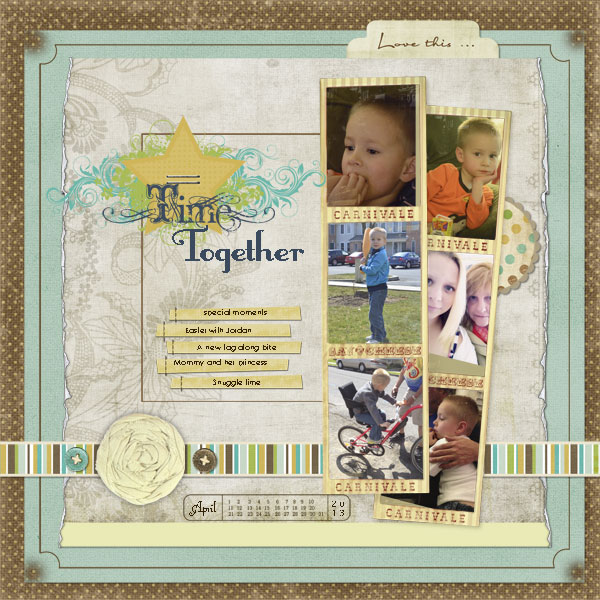 Digital Scrapbooking {My first digital scrapbook page}