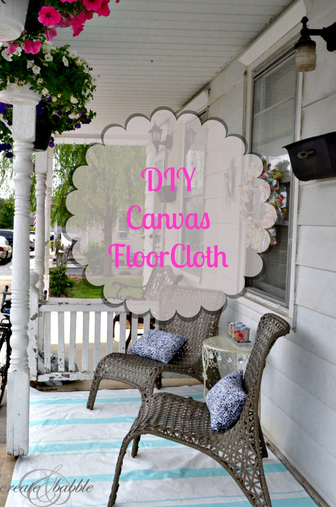 DIY Canvas Floor Cloth_createandbabble