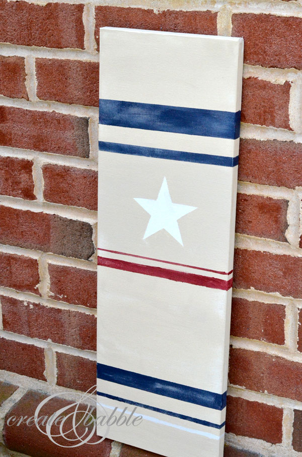 DIY canvas flag_createandbabble.com