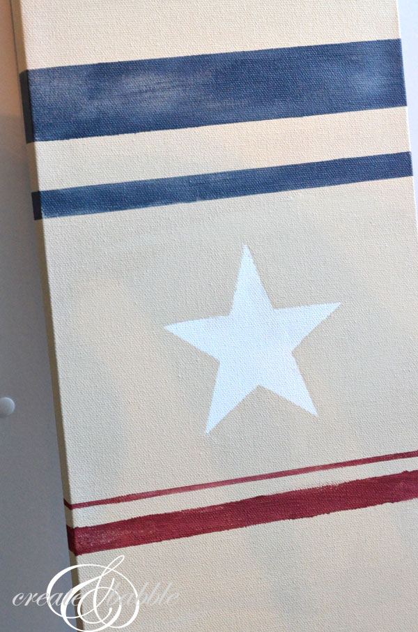 canvas flag stars and stripes_createandbabble.com