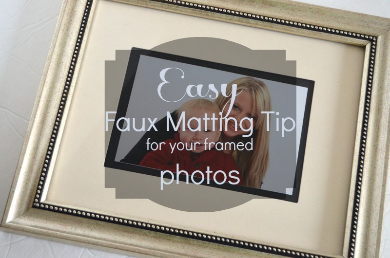 Easy Faux Matting Tip