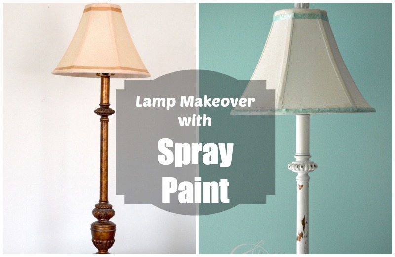 before and after lamp makeover_createandbabble