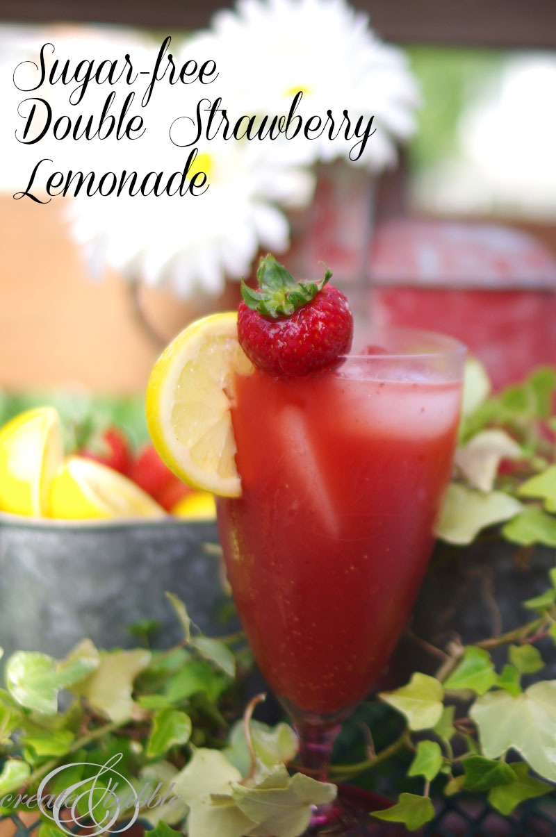 sugar free strawberry lemonade_createandbabble.com