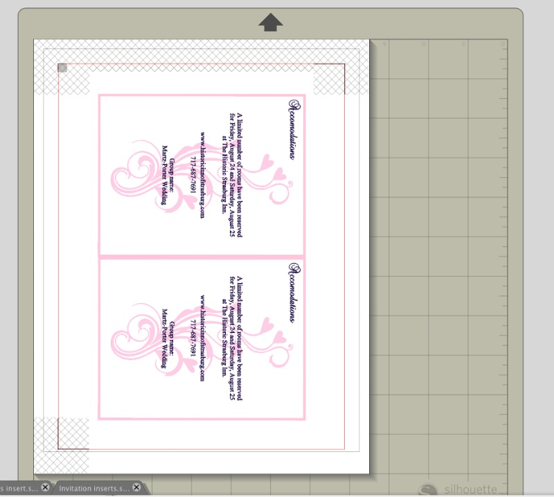 DIY wedding invitation accommodations insert_createandbabble