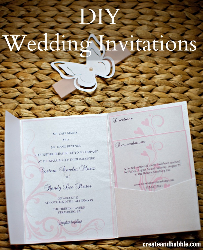 diy wedding invitations by createandbabble