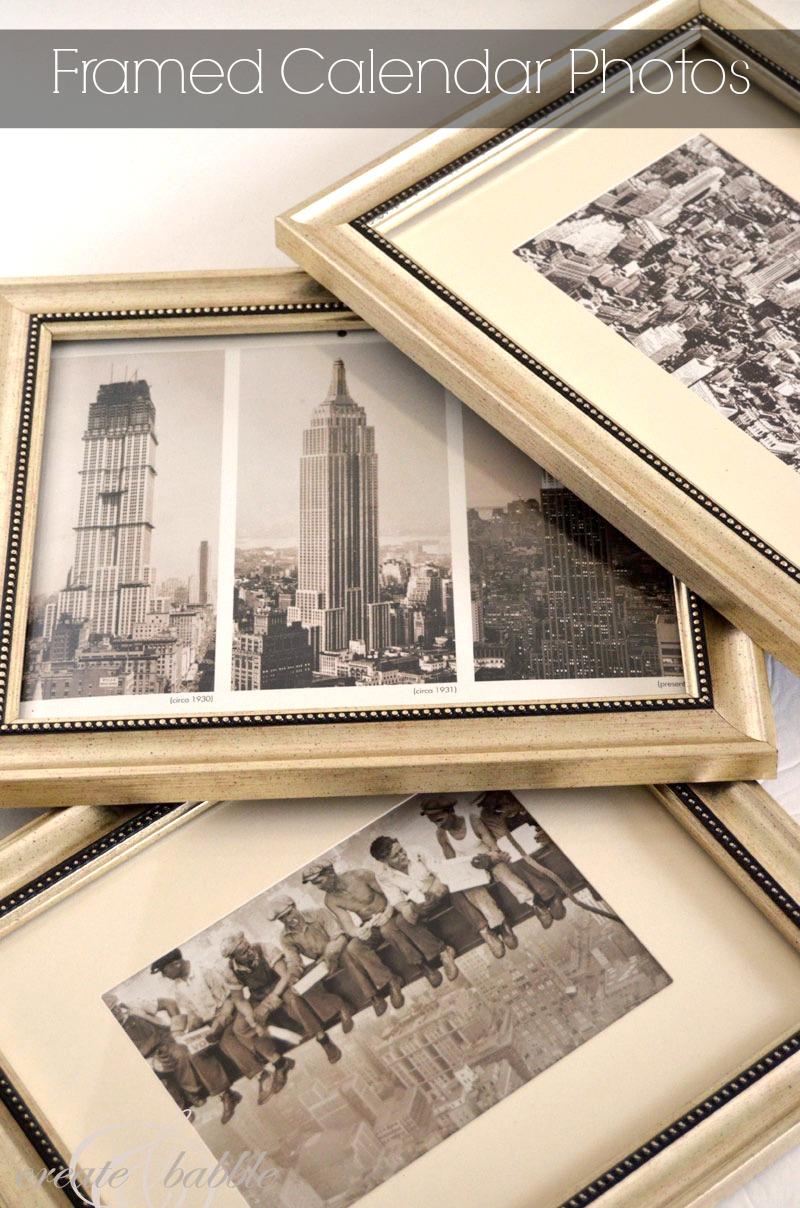 Framed Calendar Photos for Gallery Wall - createandbabble.com