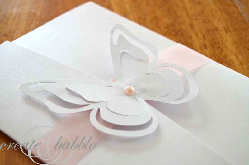 finished diy wedding invitation_createandbabble - Make Wedding Invitations