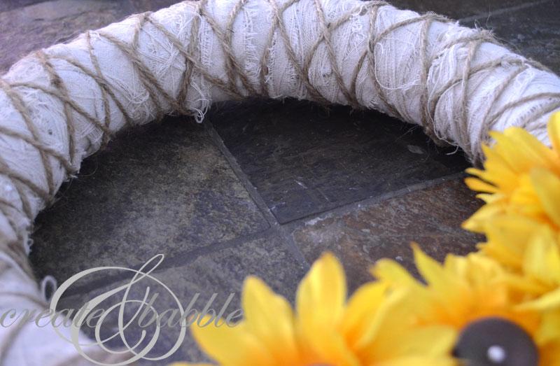 shabby sunflower wreath_createandbabble