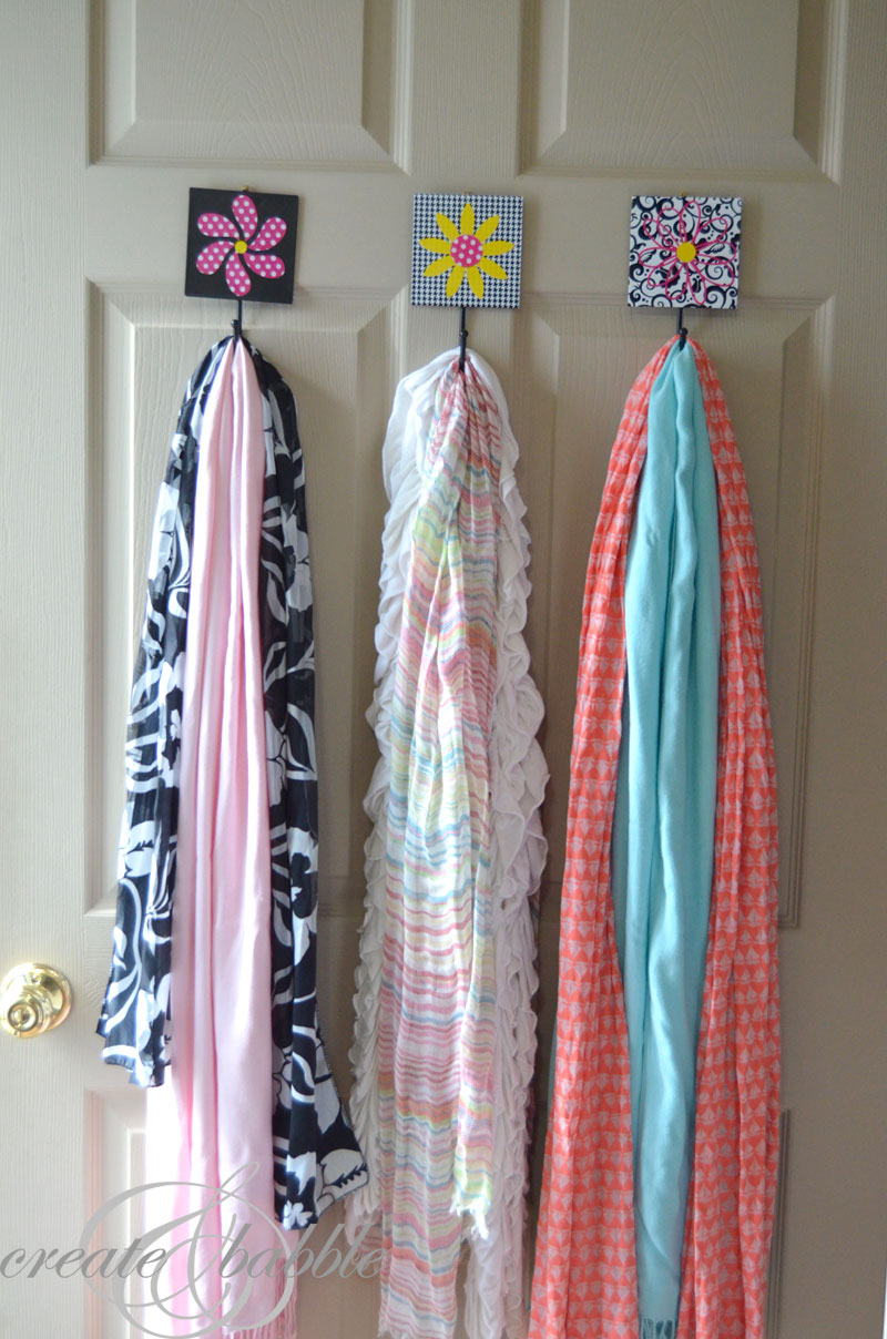 scarf storage solution hooks_createandbabble