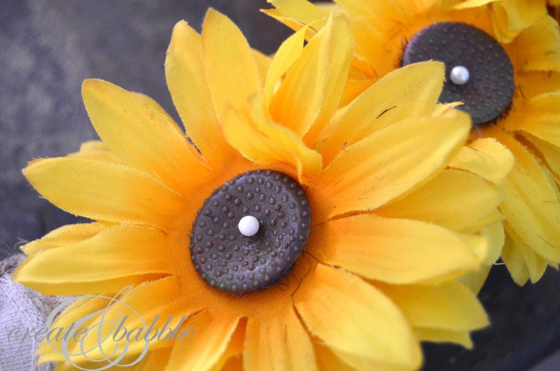 sunflower wreath_createandbabble