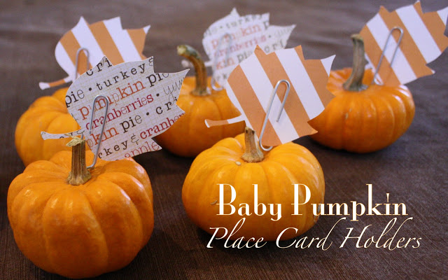 Baby Pumpkin Placecard Holder_52mantels.com