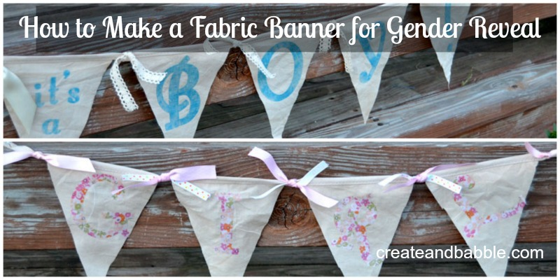 fabric gender reveal banners_createandbabble.com