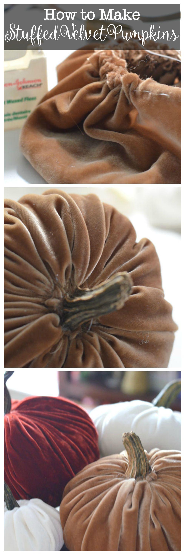 how to make stuffed velvet pumpkins