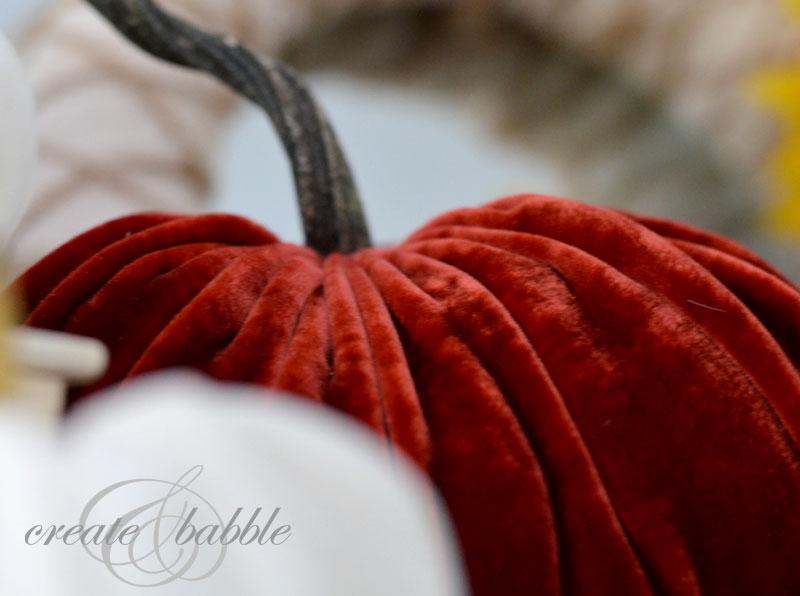 learn to make stuffed velvet pumpins