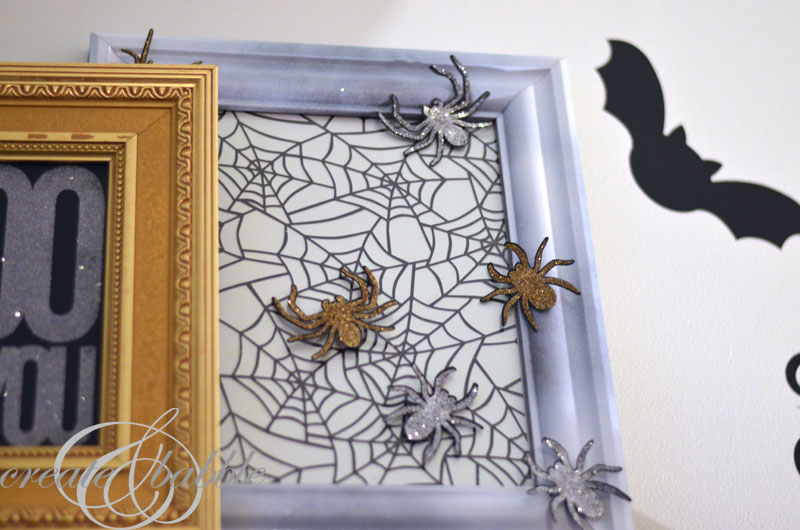 halloween mantle decor spiderweb_createandbabble.com