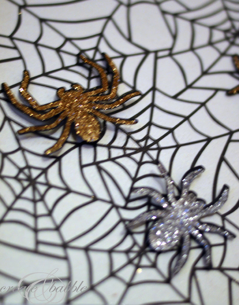 halloween mantle decor-spiders_createandbabble.com