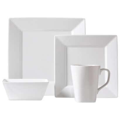 Threshold Square Rim 16pc dinnerware set
