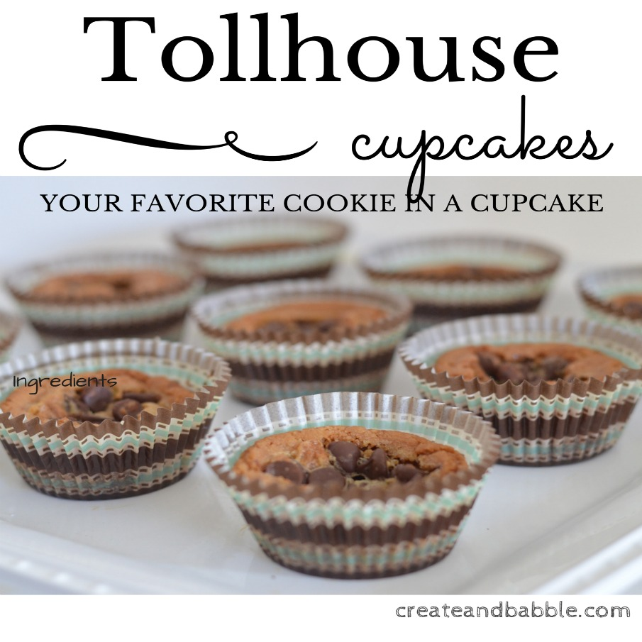 Tollhouse Cupcakes by createandbabble.com
