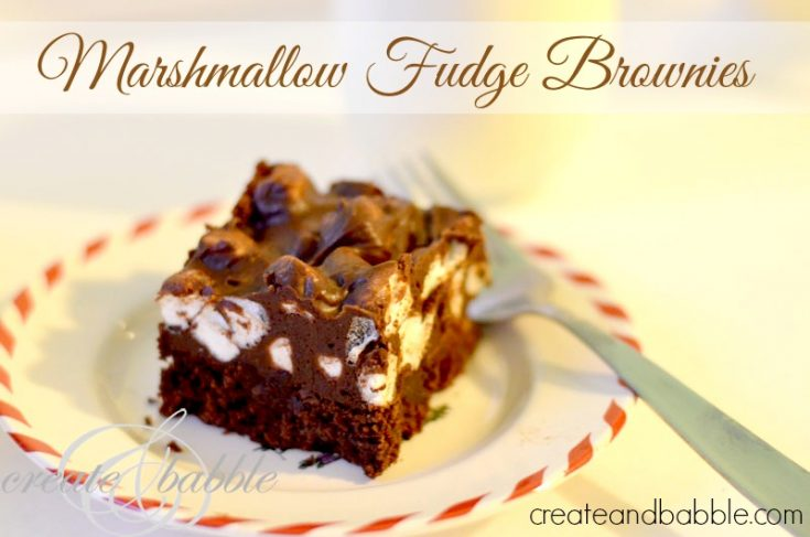Christmas Cookies-marshmallow fudge brownies_createandbabble.com