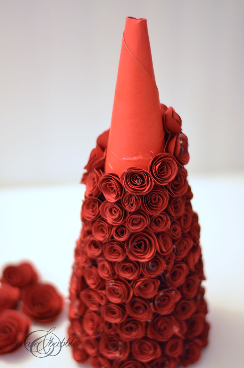 rolled paper rose christmas tree by createandbabble-4