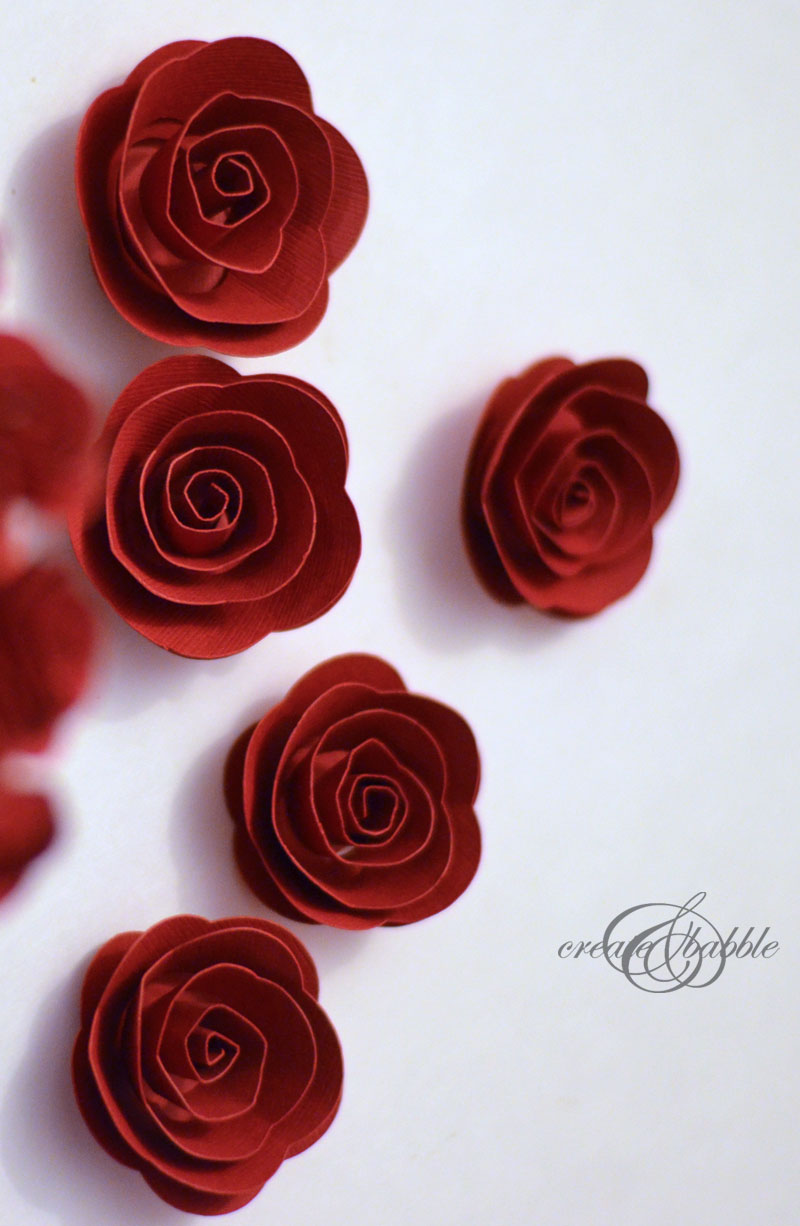 Rolled Paper Roses Christmas Tree Create And Babble