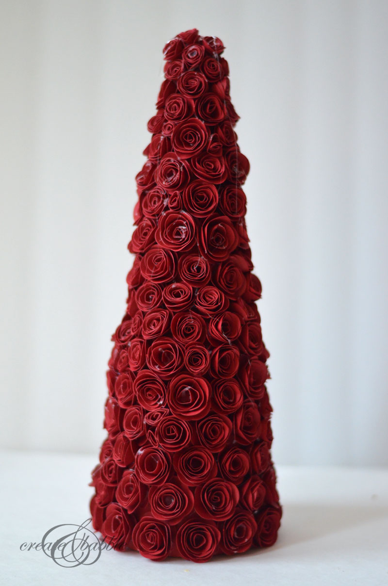 rolled paper rose christmas tree by createandbabble-7