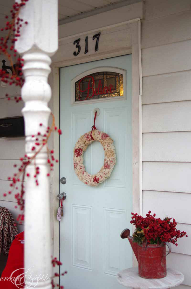 front porch christmas decor by createandbabble-4.com