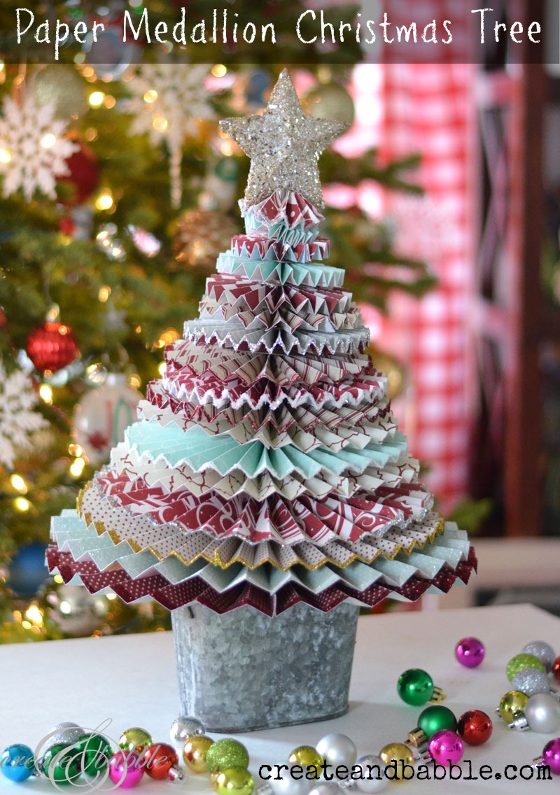 paper medallion christmas tree_createandbabble