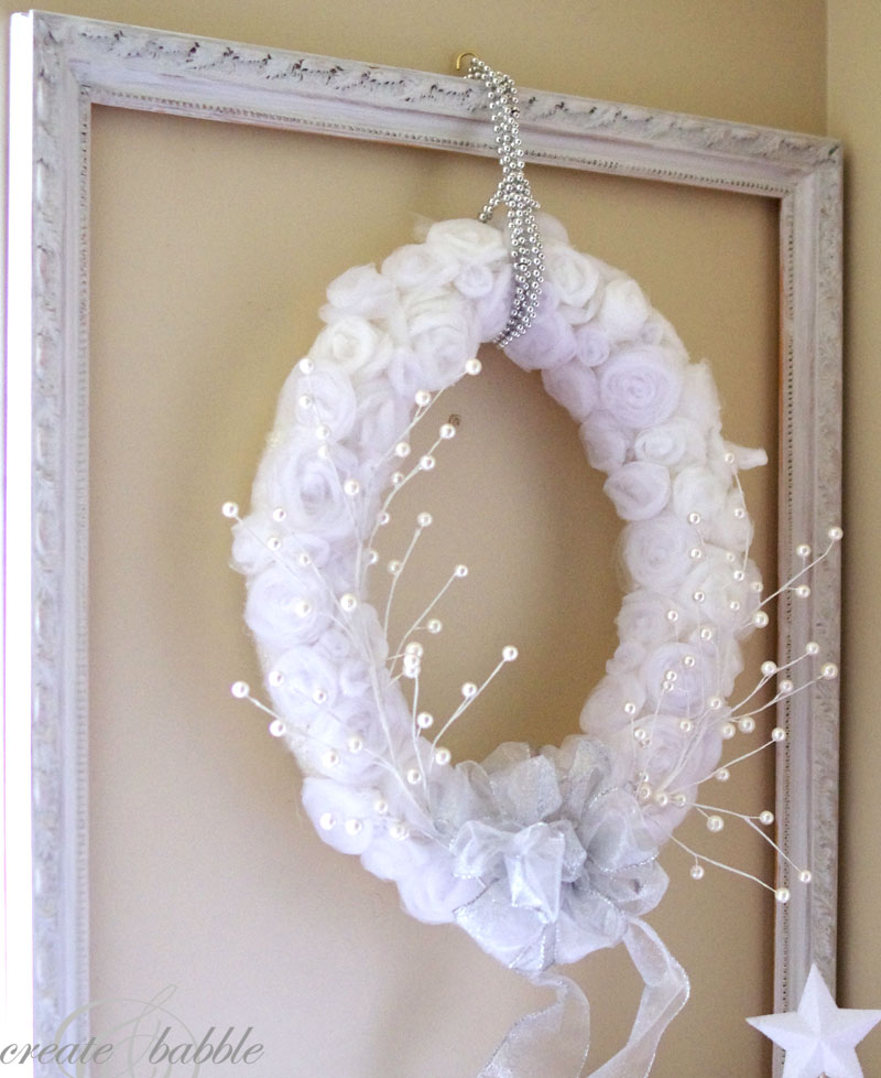 White Tulle Wreath Create And Babble
