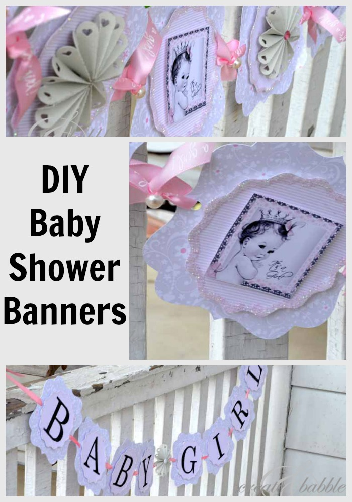 Baby girl shower decorations diy style create and babble for Baby shower decoration templates
