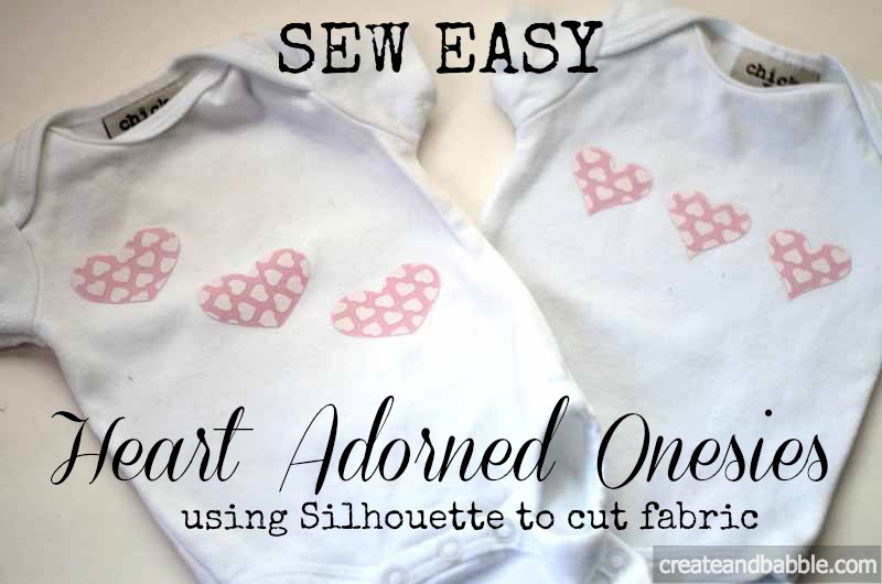 easy heart appliqued onesies
