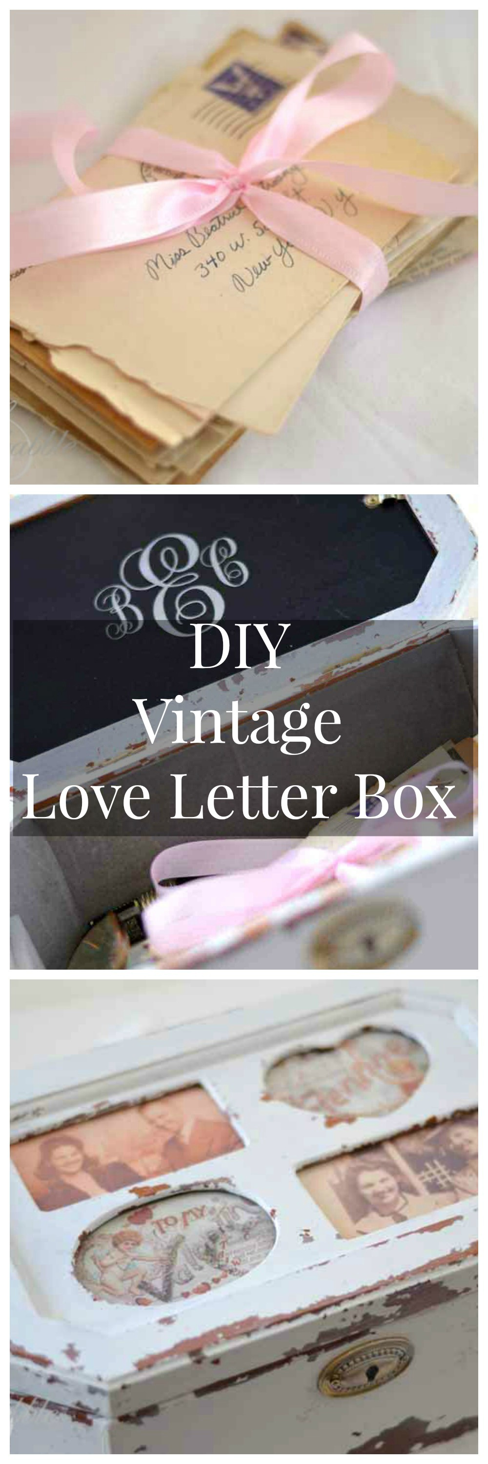 A Vintage Love Letter Box is easy to make using an old, unused jewelry box