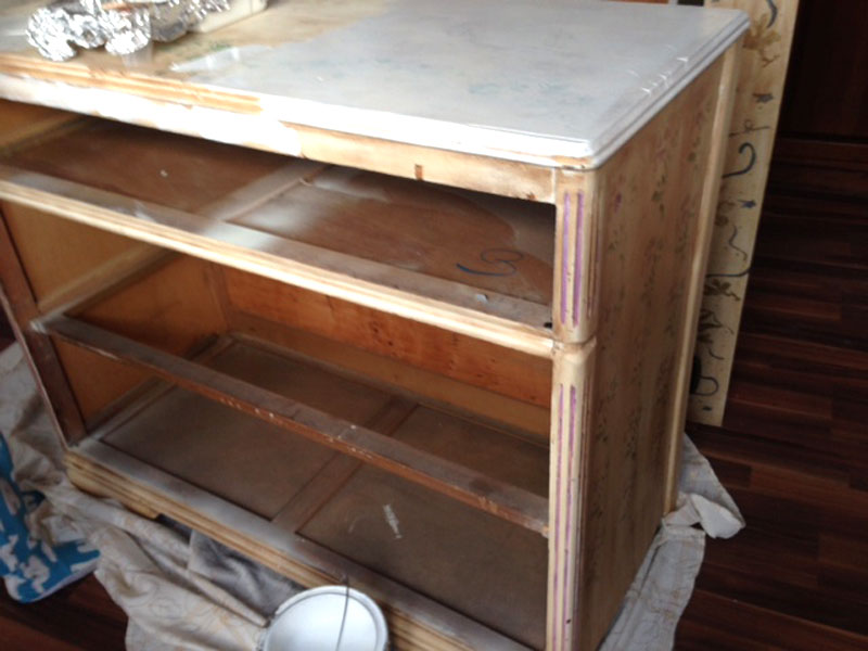 perfectly pink dresser before by createandbabble