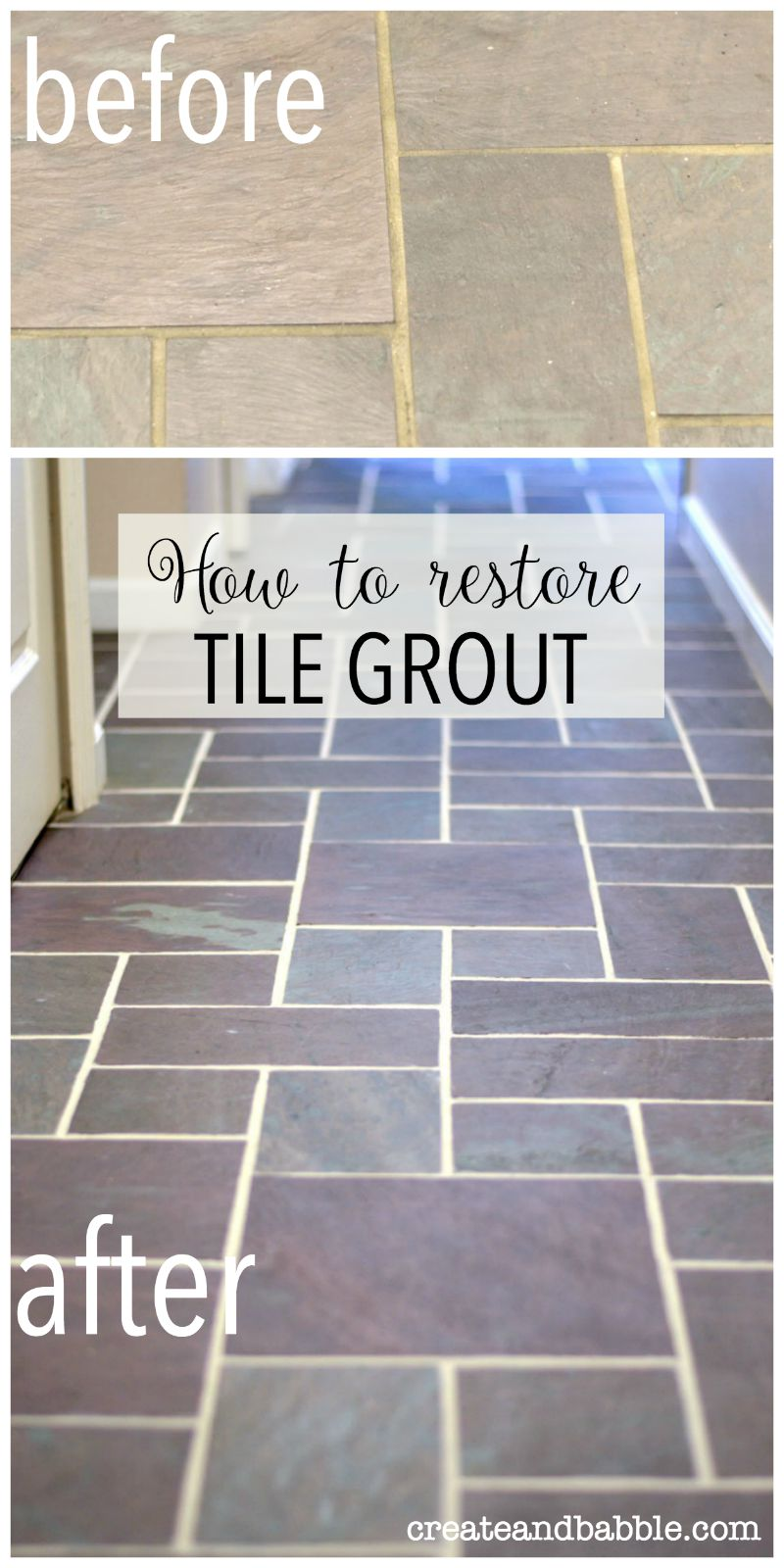 How I got my grout to look like new for $11