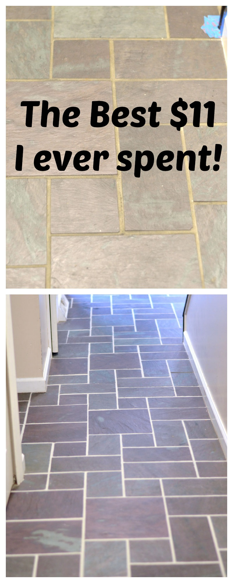 Slate floor grout renew create and babble before and after slate floor dailygadgetfo Image collections