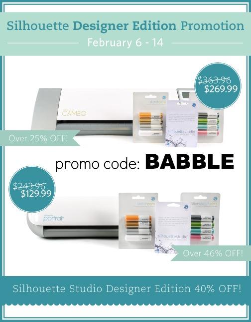 silhouette designer edition promo by createandbabble.com