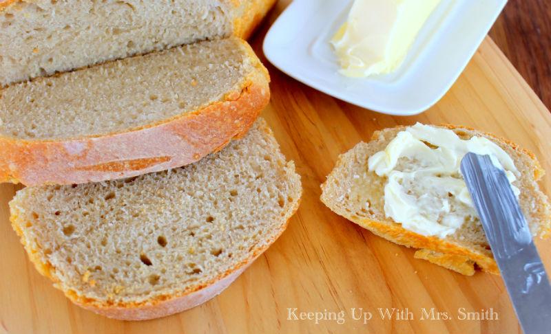 sourdough bread and butter