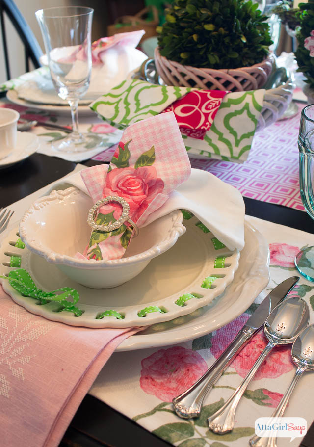 Atta Girl Says_pink-green-table-setting-ideas-2