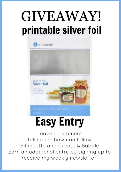 printable silver foil giveaway by createandbabble.com