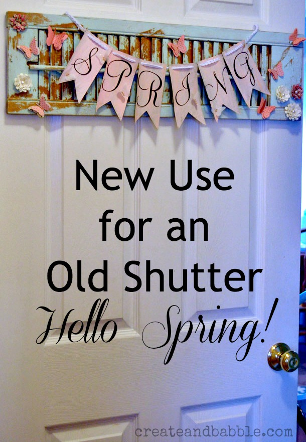 new use for old shutter by createandbabble.com